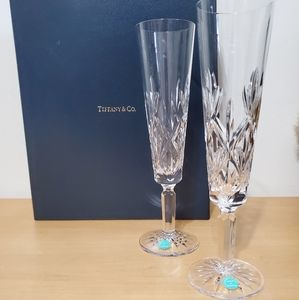 Tiffany & Co Crystal Sybil Champagne Flutes